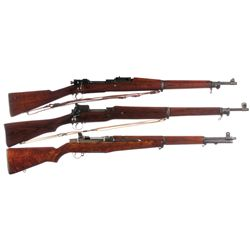 Three U.S. Rifles -A) U.S. Rock Island Model 1903 Bolt Action Rifle