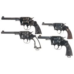 Four Colt Double Action Revolvers -A) Colt Army Special Double Action Revolver