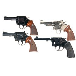 Four Colt Double Action Revolvers -A) Colt Metropolitan MK III Double Action Revolver