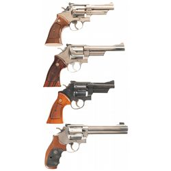 Four Smith & Wesson Double Action Revolvers -A) Smith & Wesson Model 27-2 Double Action Revolver