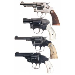 Four Double Action Revolvers -A) Smith & Wesson 32 Hand Ejector Model of 1905 2nd Change Double Acti