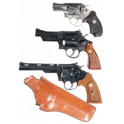 Three Double Action Revolvers -A) Colt .38 SF-VI Double Action Revolver