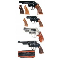 Four Smith & Wesson Double Action Revolvers -A) Smith & Wesson Model 10-6 Double Action Revolver