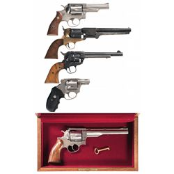 Five Revolvers -A) Ruger Police Service-Six Double Action Revolver