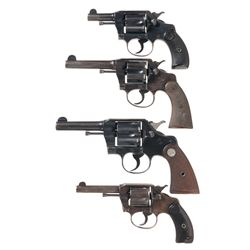 Four Colt Double Action Revolvers -A) Colt Pocket Positive Double Action Revolver