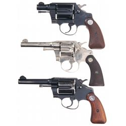 Three Colt Double Action Revolvers -A) Colt Cobra First Issue Double Action Revolver