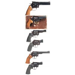 Six Dan Wesson Double Action Revolvers -A) Dan Wesson Model 44F Double Action Revolver