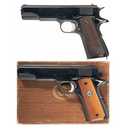 Two Colt Series 70 1911 Semi-Automatic Pistols -A) Colt Series 70 1911 Semi-Automatic Pistol