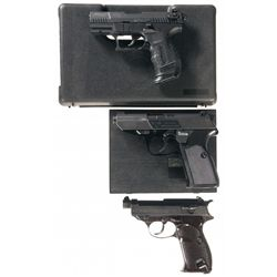 Three Walther Semi-Automatic Pistols -A) Walther P-22 Semi-Automatic Pistol with Case