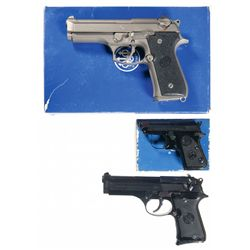 Three Beretta Semi-Automatic Pistols -A) Beretta 92FS Centurion Semi-Automatic Pistol with Case