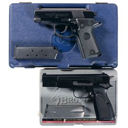 Two Cased Semi-Automatic Pistols -A) Colt Double Eagle Officer's Model Semi-Automatic Pistol