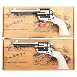 Two Boxed Uberti Cattleman Cody Single Action Revolvers -A) Uberti Cattleman Cody Single Action Revo