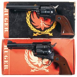 Two Boxed Ruger Single Action Revolvers -A) Ruger Single Six Convertible Single Action Revolver
