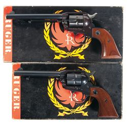 Two Boxed Ruger Single Six Convertible Revolvers -A) Ruger Single Six Convertible Single Action Revo