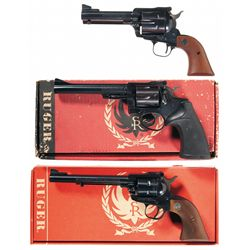 Three Ruger Revolvers -A) Ruger Blackhawk Single Action Revolver