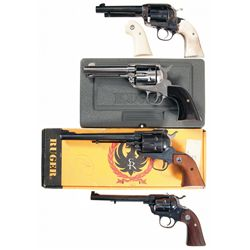 Four Ruger Single Action Revolvers -A) Ruger Bisley Vaquero Single Action Revolver