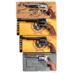 Four Handguns -A) American Arms Regulator Single Action Revolver with Box