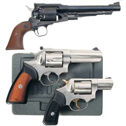 Three Ruger Revolvers -A) Old Army Single Action Percussion