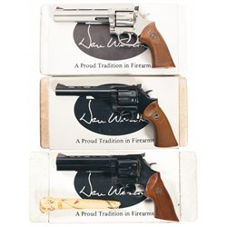 Three Boxed Dan Wesson Double Action Revolvers -A) Dan Wesson Model 32 Double Action Revolver