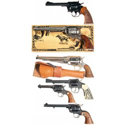 Six Revolvers -A) Colt Officer's Model Match Double Action Revolver