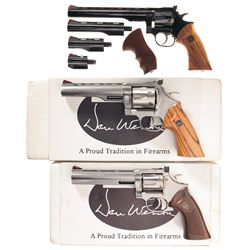 Three Dan Wesson Double Action Revolvers -A) Dan Wesson Model 22 Double Action Revolver with Case