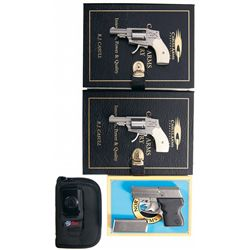 Two Boxed Consecutively Numbered Double Action Revolvers and One Boxed Semi-Automatic Pistol -A) Cas