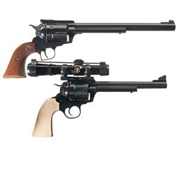 Two Ruger Single Action Revolvers -A) Ruger New Model Blackhawk Single Action Revolver