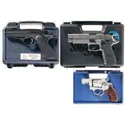 Three Cased Hand Guns -A) Olympic Arms Wolverine Semi-Automatic Pistol