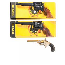 Three Single Action Revolvers -A) Ruger New Model Blackhawk with Box