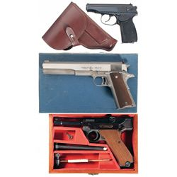 Three Semi-Automatic Pistols -A) Ernst Thaelmann Model M Semi-Automatic Pistol with Holster