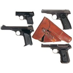 Four Semi-Automatic Pistols -A) Browning Baby Semi-Automatic Pistol