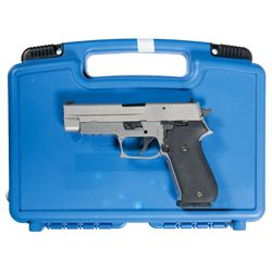 Sig Sauer P220 Semi-Automatic Pistol with Case, Belts, and Holsters