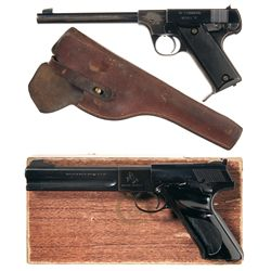 Two Semi-Automatic .22 Pistols -A) High Standard Model B Semi-Automatic Pistol