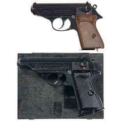 Two Walther PP-Series Semi-Automatic Pistols -A) Walther Model PPK Semi-Automatic Pistol