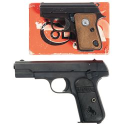 Two Colt Semi-Automatic Pistols -A) Junior Pocket Model Semi-Automatic Pistol with Box