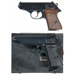 Two Walther Semi-Automatic Pistols -A) Model PPK l