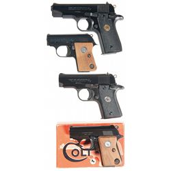 Four Colt Semi-Automatic Pistols -A) Colt MK IV/Series 80 Government Model .380 Auto Semi-Automatic