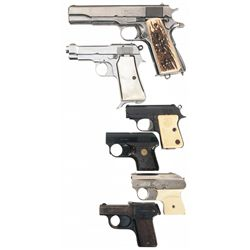 Four Handguns and Two Starter Pistols -A) Ithaca Model 1911A1 Semi-Automatic Pistol