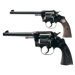 Two Colt Double Action Revolvers -A) Colt Police Positive Double Action Revolver