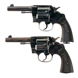Two Colt New Service Double Action Revolvers -A) Colt New Service Model Double Action Revolver