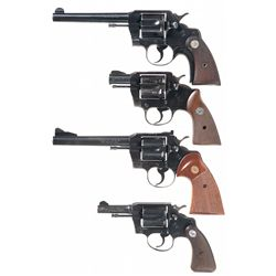Four Colt Double Action Revolvers -A) Colt Official Police Heavy Barrel Double Action Revolver