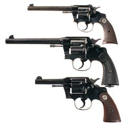 Three Colt Double Action Revolvers -A) Colt Police Positive Target Double Action Revolver