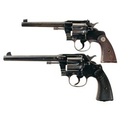 Two Colt Double Action Revolvers -A) Colt Officer's Model 2nd Issue Double Action Revolver