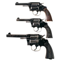 Three Colt Double Action Revolvers -A) Colt Police Positive Special Double Action Revolver
