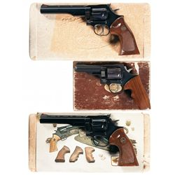 Three Boxed Dan Wesson Double Action Revolvers -A) Dan Wesson Model 22 Double Action Revolver
