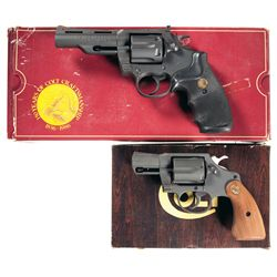 Two Boxed Colt Double Action Revolvers -A) Colt Peacekeeper Double Action Revolver