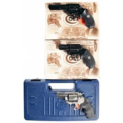 Three Cased Colt Revolvers -A) Colt Police Positive MK V Double Action Revolver