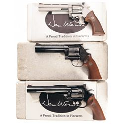 Three Boxed Dan Wesson Double Action Revolvers -A) Dan Wesson Model 14 Double Action Revolver
