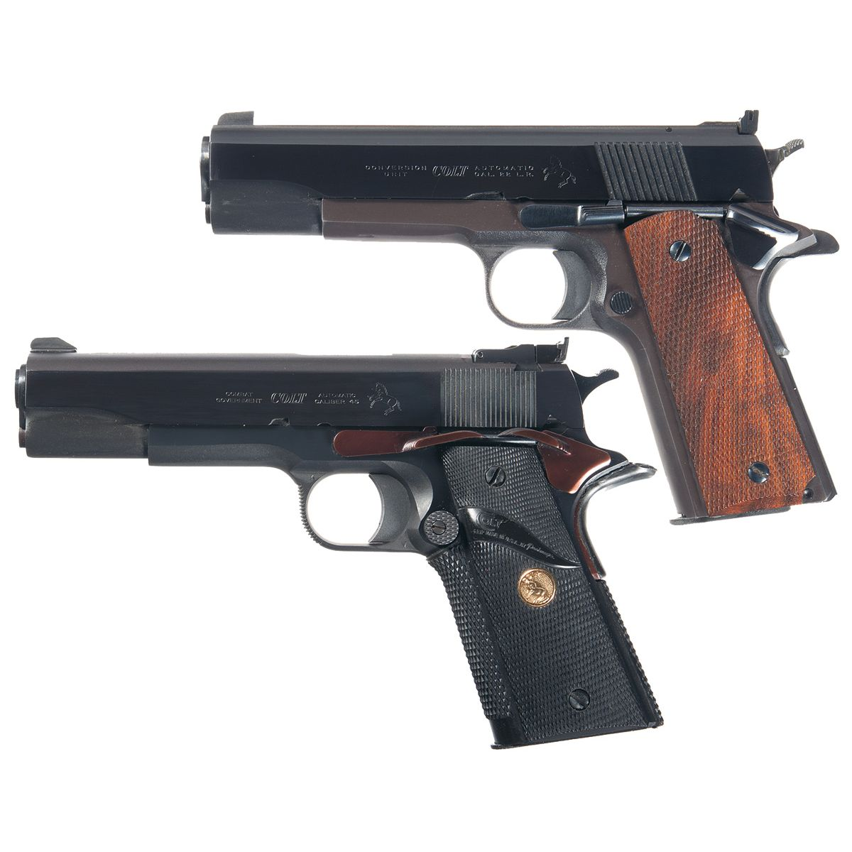Two 1911 Semi-Automatic Pistols -A) Essex Arms 1911 Frame with Colt ...