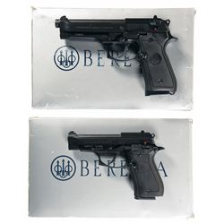Two Cased Beretta Semi-Automatic Pistols -A) Beretta Model 92 FS Semi-Automatic Pistol